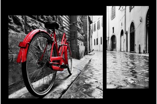 Модульная картина Велосипед