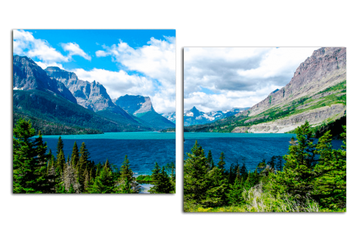 Картина из 2 частей Горное озеро